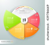 design circle infographic 4... | Shutterstock .eps vector #439786669