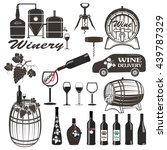 set of wine signs  badges | Shutterstock .eps vector #439787329