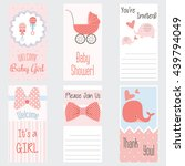 baby shower invitation card.it... | Shutterstock .eps vector #439794049