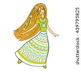 forest girl | Shutterstock .eps vector #439795825