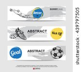 abstract soccer  football  ... | Shutterstock .eps vector #439797505