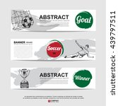 abstract soccer  football  ... | Shutterstock .eps vector #439797511