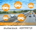 taxi on demand concept  concept ... | Shutterstock . vector #439799719