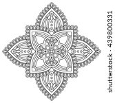 flower mandalas. vintage... | Shutterstock . vector #439800331