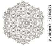 flower mandalas. vintage... | Shutterstock . vector #439800571