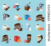 colorful coffee vector icons... | Shutterstock .eps vector #439801414