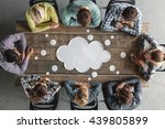 hipster business teamwork... | Shutterstock . vector #439805899