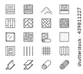 set of line icons with building ... | Shutterstock .eps vector #439811227