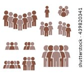 people icon set | Shutterstock .eps vector #439820341
