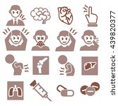 office syndrome  sick icons set | Shutterstock .eps vector #439820377