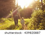 father traveling with a child.... | Shutterstock . vector #439820887