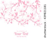 vector white cherry blossoms... | Shutterstock .eps vector #439821181