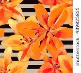 summer floral seamless vector... | Shutterstock .eps vector #439825825