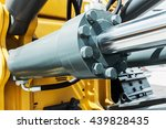 hydraulics tractor yellow....   Shutterstock . vector #439828435