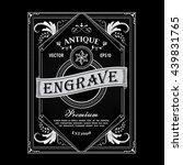 antique frame vintage border... | Shutterstock .eps vector #439831765