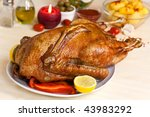 Baked  Goose With Potato Red...