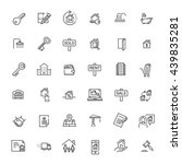 outline web icons set   real... | Shutterstock .eps vector #439835281