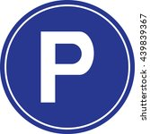 isolated parking sign   blue... | Shutterstock .eps vector #439839367