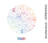 set of math icons. bright... | Shutterstock . vector #439843441
