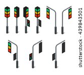 pedestrian traffic light. led... | Shutterstock . vector #439843501