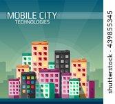 mobile technologies in the city ... | Shutterstock .eps vector #439855345
