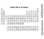 periodic table of the elements...   Shutterstock . vector #439856254