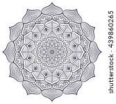 flower mandalas. vintage...   Shutterstock . vector #439860265