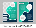 vector flyer template design.... | Shutterstock .eps vector #439861015