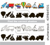 funny transport shadow set with ... | Shutterstock .eps vector #439864531