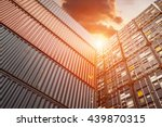 container transport terminals...   Shutterstock . vector #439870315