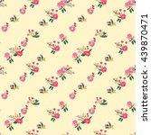 floral seamless vintage pattern ... | Shutterstock .eps vector #439870471