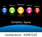 vector web navigation template | Shutterstock .eps vector #43987225