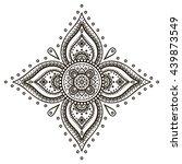 flower mandalas. vintage...   Shutterstock . vector #439873549