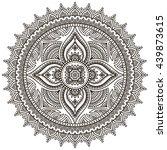 flower mandalas. vintage... | Shutterstock . vector #439873615