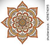 flower mandalas. vintage... | Shutterstock . vector #439874095