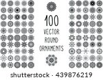 flower mandalas. vintage... | Shutterstock . vector #439876219