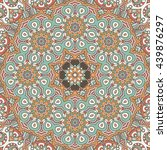 flower mandalas. vintage... | Shutterstock . vector #439876297