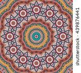 flower mandalas. vintage... | Shutterstock . vector #439876441