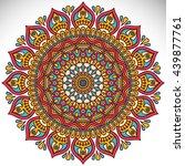 flower mandalas. vintage... | Shutterstock . vector #439877761