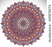 flower mandalas. vintage... | Shutterstock . vector #439878574