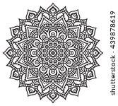 flower mandalas. vintage... | Shutterstock . vector #439878619