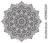 flower mandalas. vintage... | Shutterstock . vector #439880269