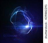3d illuminated abstract digital ... | Shutterstock .eps vector #439882291