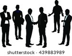 business people silhouettes | Shutterstock .eps vector #439883989