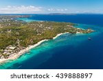 aerial view of beautiful bay in ... | Shutterstock . vector #439888897