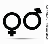 symbols of male and female.... | Shutterstock . vector #439893199