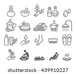 spa massage therapy cosmetics... | Shutterstock .eps vector #439910227