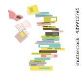 falling stack of books | Shutterstock .eps vector #439912765