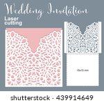vector die laser cut envelope... | Shutterstock .eps vector #439914649