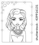 vector coloring book of... | Shutterstock .eps vector #439916131